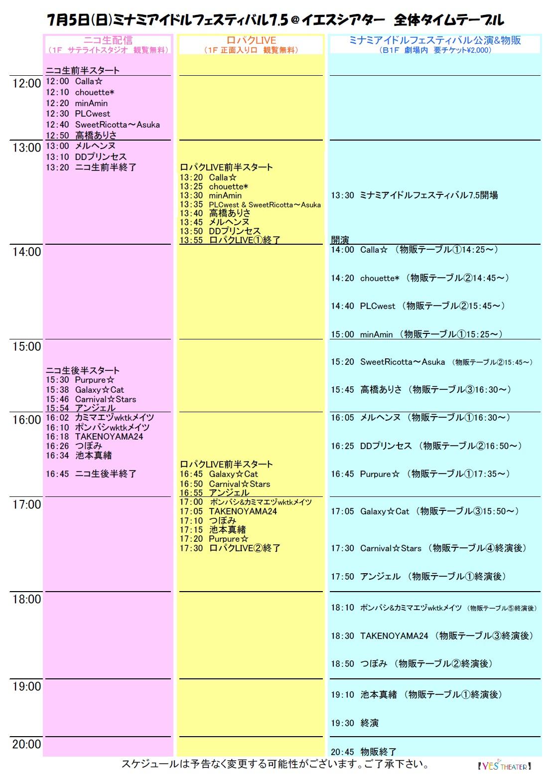 平成27年7月5日(日) ミナミアイドルフェスティバル7.5